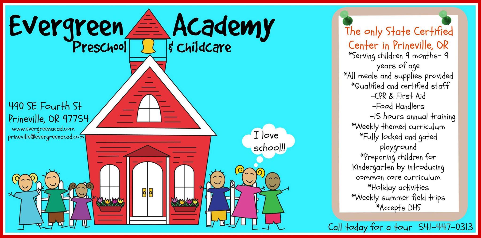 Evergreen Academy Preschool & Childcare, Prineville